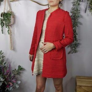 Vilagallo Jackets & Coats - VILAGALLO Megan embellished ribbon tweed coat 0886